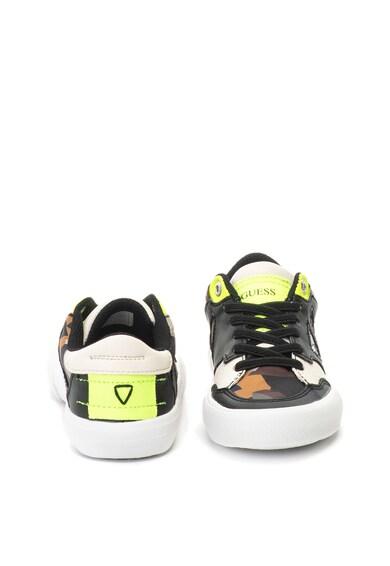Guess Pantofi sport cu insertii de piele ecologica Baieti