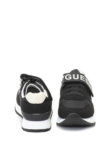 Guess Nyersbőr hatású sneakers cipő kontrasztos logóval Lány
