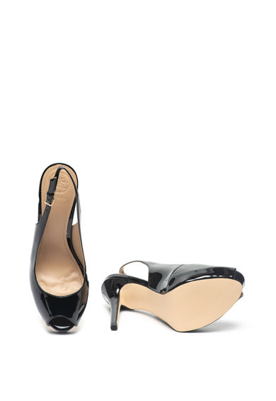 Guess Műbőr nyitott orrú sarokpántos cipő női