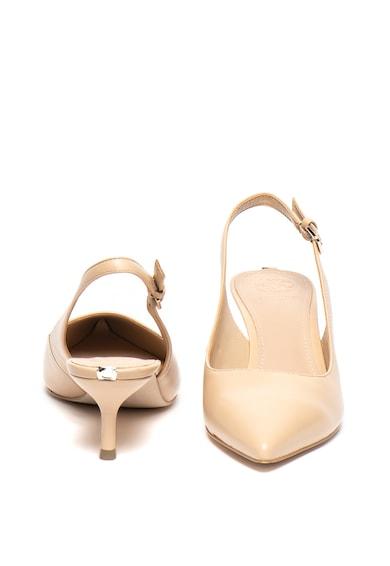Guess Pantofi slingback de piele cu toc kitten Femei