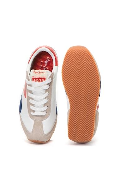 Pepe Jeans London Pantofi sport cu garnituri de piele intoarsa si piele Tahiti Retro Junior Fete