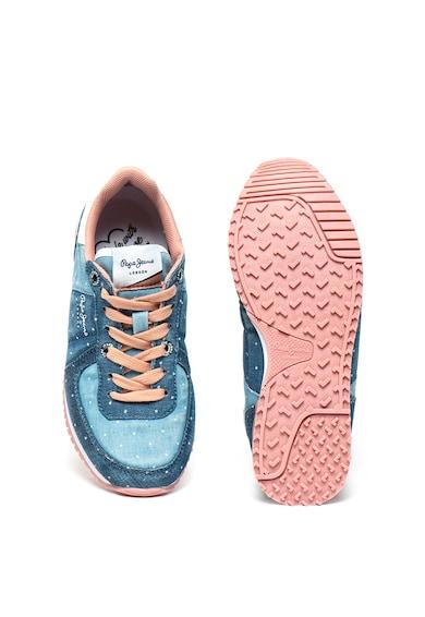 Pepe Jeans London Pantofi sport cu aspect de denim Sydney Baieti