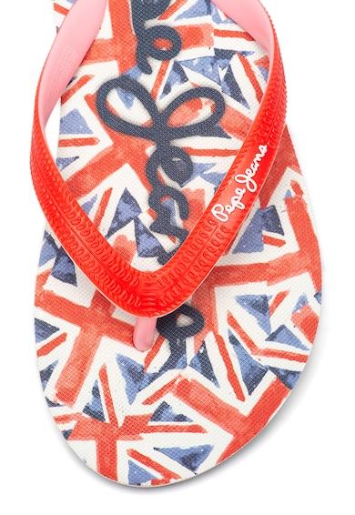 Pepe Jeans London Papuci flip-flop cu logo pe talpa interioara Fete