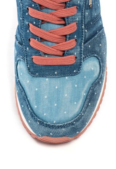 Pepe Jeans London Pantofi sport cu aspect denim Gable Femei