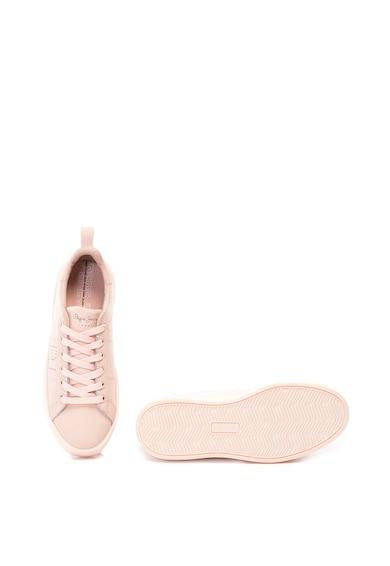 Pepe Jeans London Pantofi sport de piele Brixton Block Femei