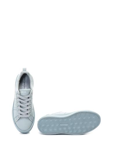 Pepe Jeans London Pantofi sport de piele, cu talpa flatform Brixton Block Femei