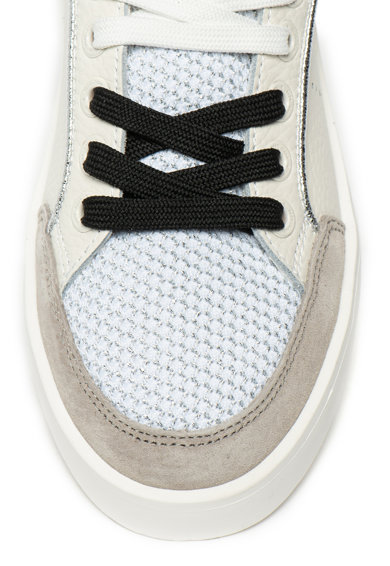 Pepe Jeans London Pantofi sport de piele, cu talpa wedge Brixton Femei