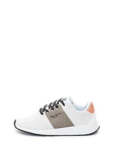 Pepe Jeans London Pantofi sport cu aspect tricotat si insertii metalizate Koko Sand Femei