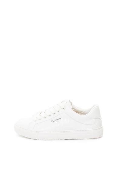 Pepe Jeans London Pantofi sport de piele ecologica cu aspect texturat Adams Femei