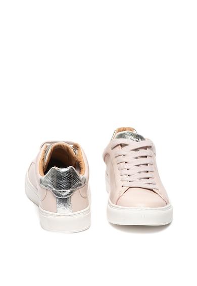 Pepe Jeans London Pantofi sport de piele cu detalii cu aspect metalizat Adams Femei