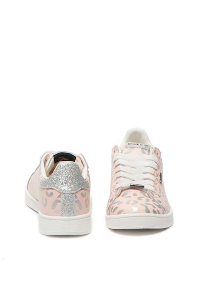 Pepe Jeans London Pantofi sport de piele cu animal print Brompton Femei