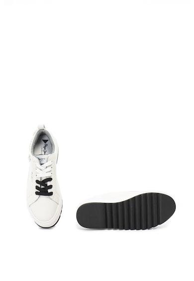 Pepe Jeans London Pantofi sport de piele. cu talpa flatform si tinte Otawa Femei
