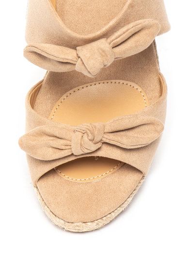 Pepe Jeans London Sandale wedge tip espadrile de piele intoarsa ecologica Femei
