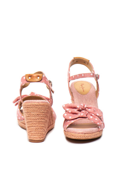 Pepe Jeans London Sandale wedge tip espadrile Shark Femei