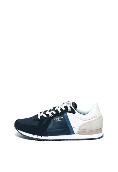 Pepe Jeans London Pantofi sport cu garnituri de piele intoarsa Tinker Barbati