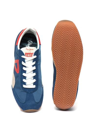 Pepe Jeans London Pantofi sport cu garnituri de piele intoarsa Tahiti Retro Barbati