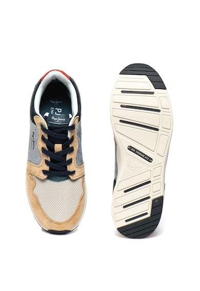 Pepe Jeans London Pantofi sport din material usor, cu garnituri de piele intoarsa Jayker Dual Barbati
