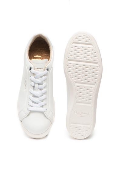 Pepe Jeans London Кожени спортни обувки Roland с лого Мъже