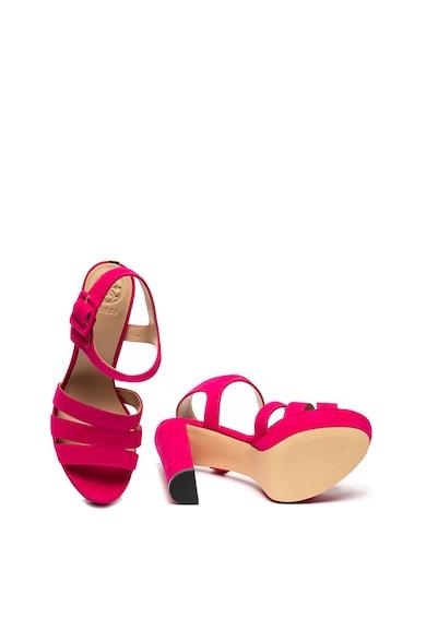 Guess Sandale de piele intoarsa cu platforma Femei
