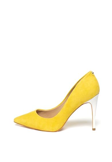 Guess Pantofi stiletto cu varf ascutit, de piele intoarsa Femei