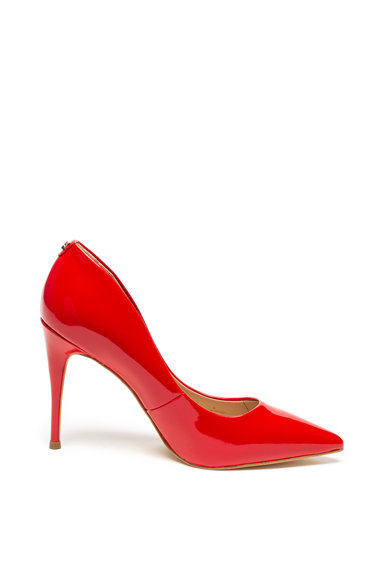 Guess Pantofi stiletto cu varf ascutit si aspect lacuit Femei