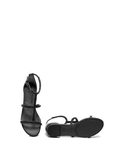 Guess Sandale de piele ecologica cu talpa plata Femei