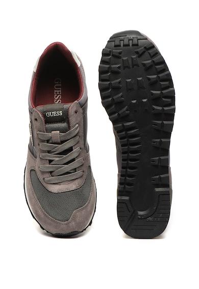 Guess Pantofi sport cu garnituri de piele intoarsa Barbati