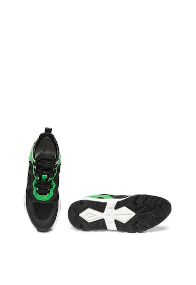 Guess Pantofi sport de plasa cu garnituri de piele ecologica Barbati