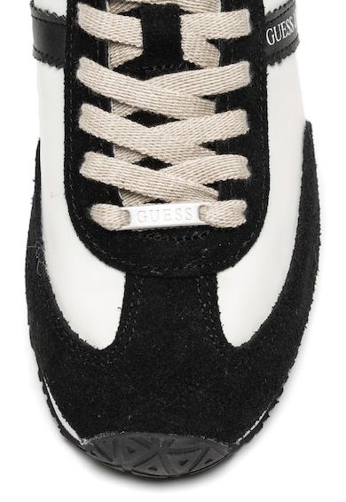 Guess Könnyű súlyú sneaker nyersbőr és bőr szegélyekkel férfi
