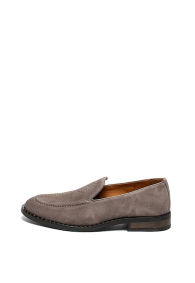 Guess Pantofi loafer de piele intoarsa Barbati