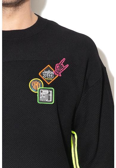 Diesel Pulover tricotat cu terminatii contrastante Trey Barbati