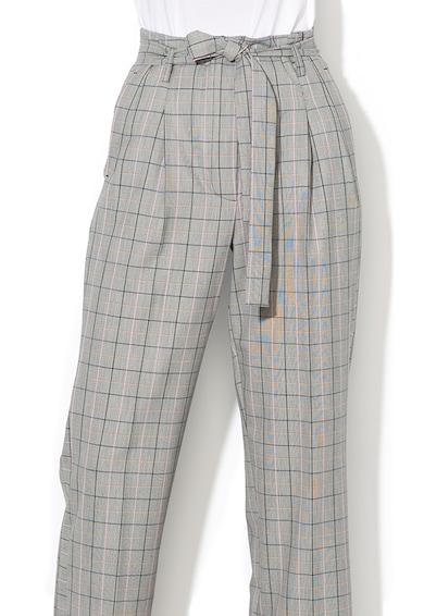 Marella Pantaloni cu croiala dreapta si model in carouri Ragusa Femei