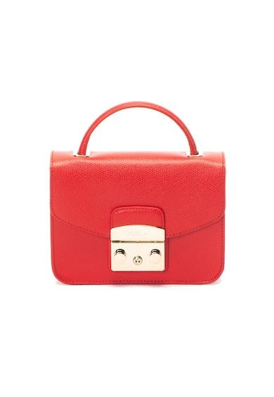 Furla Малка кожена чанта Metropolis с отделяща се презрамка Жени
