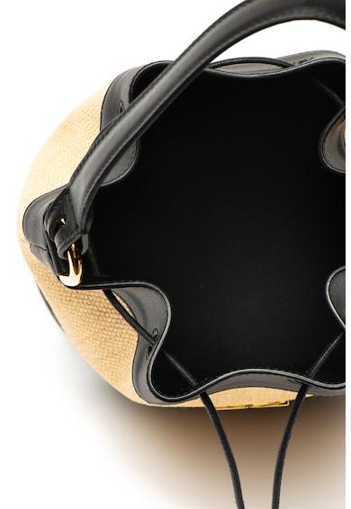 Furla Corona vödörtáska szalma és bőr részletekkel női