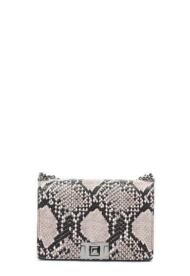 Furla Кожена чанта през рамо Mimi със змийски десен Жени