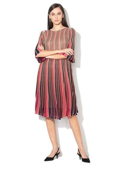 Max&Co Rochie tricotata fin, cu striatii si insertii din lurex Prodigio Femei
