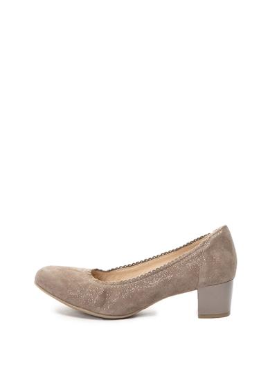 Caprice Pantofi de piele intoarsa cu toc masiv Femei