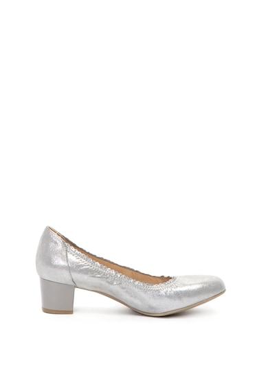 Caprice Pantofi cu toc masiv si aspect lucios Femei