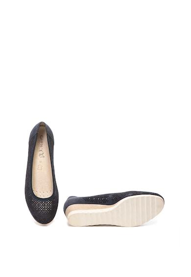 Caprice Pantofi wedge de piele intoarsa Femei