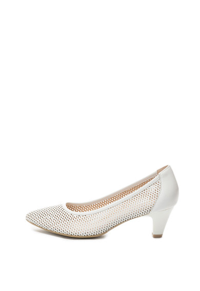 Caprice Pantofi de piele cu perforatii si toc clasic Femei