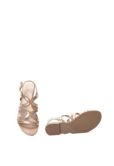 Caprice Sandale de piele, cu aspect metalizat Femei