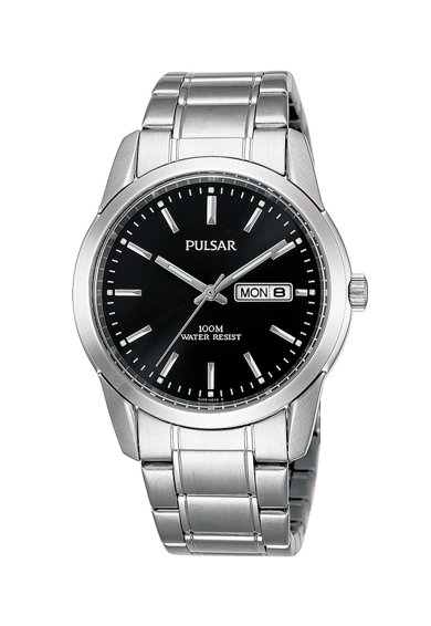 Pulsar Овален часовник с метална верижка Мъже