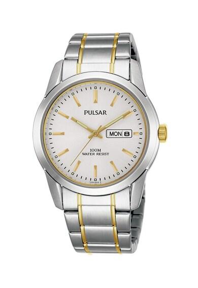 Pulsar Овален часовник от неръждаема стомана Мъже