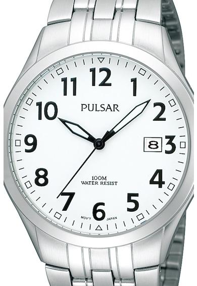Pulsar Часовник с три стрелки и метална верижка Мъже
