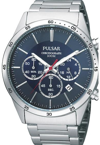 Pulsar Часовник с метална верижка и хронограф Мъже