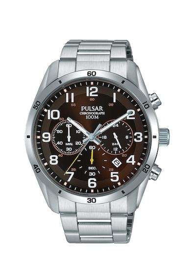 Pulsar Часовник с верижка от неръждаема стомана и хронограф Мъже