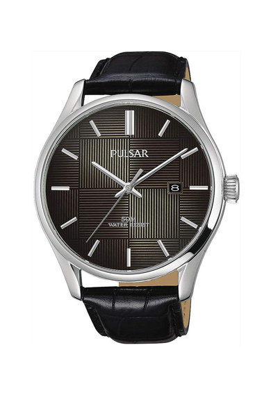 Pulsar Часовник с кожена каишка Мъже