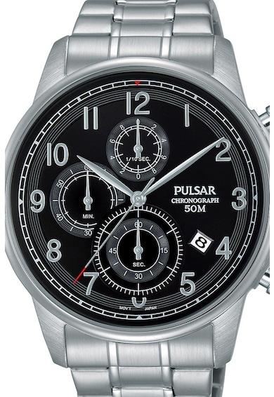 Pulsar Часовник с хронограф и метална верижка Мъже