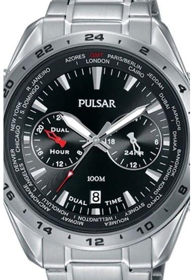 Pulsar Кварцов часовник с две часови зони Мъже