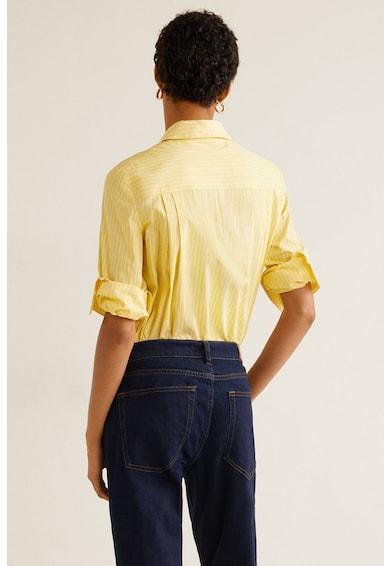 Mango Almond hajszálcsíkos ing hegyes gallérral női